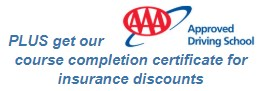 AAA Approved Driving School, complete certificate course