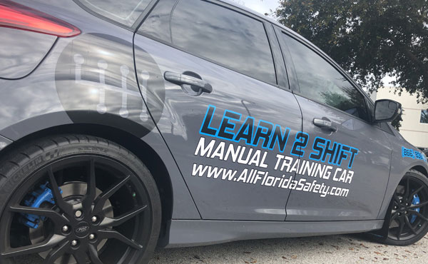 Performance vehicle for driving school, Ford Focus