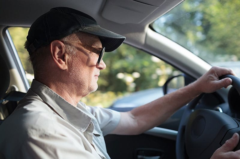 Seniors taking driving school classes