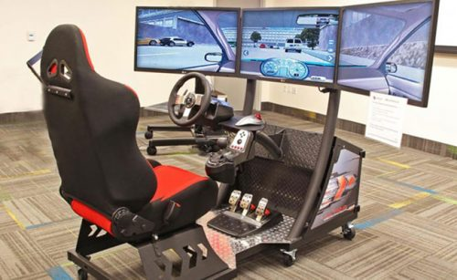 State of the art driving school simulator