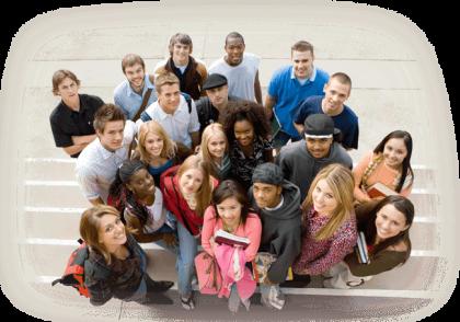 International student drivers taking a photo